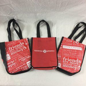 Lululemon Reusable Shopping Bags Totes Lot of 3